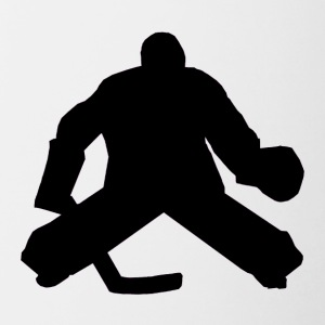 Hockey Goalie Silhouette - Contrast Coffee Mug