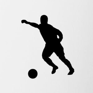Soccer Player Silhouette - Contrast Coffee Mug