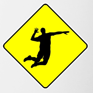 Volleyball Player Crossing Sign - Contrast Coffee Mug