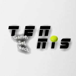 tennis uneven shirt - Contrast Coffee Mug