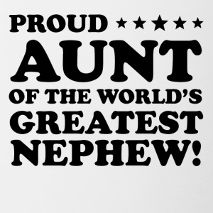 Proud Aunt Of The World's Greatest Nephew - Contrast Coffee Mug