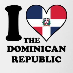 I Love Dominican Republic Dominican Flag Heart - Contrast Coffee Mug