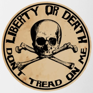 Liberty or Death Dont Tread On Me - Contrast Coffee Mug