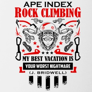 ApeIndex RockClimbing Black Red - Contrast Coffee Mug