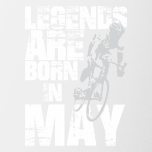 Legends Are Born In May Cycling - Contrast Coffee Mug