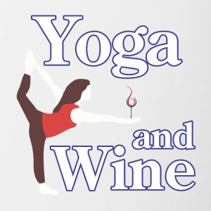 yoga and wine - Contrast Coffee Mug