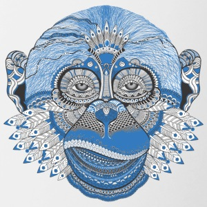 Ape monkey pattern Tattoo Style - Contrast Coffee Mug