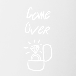 Game over I'm getting married - Contrast Coffee Mug
