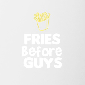 Fries before guys - Contrast Coffee Mug