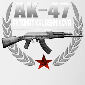 AK 47 RUSSIAN RIFLE - Contrast Coffee Mug