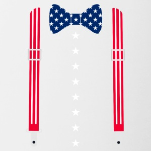 Awesome Suspenders US Flag Costume Bowtie - Contrast Coffee Mug