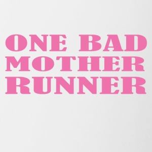 One bad mother runner - Contrast Coffee Mug
