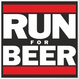 Will Run For Beer - Contrast Coffee Mug