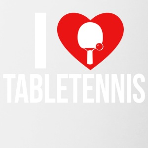 I LOVE TABLETENNIS - Contrast Coffee Mug