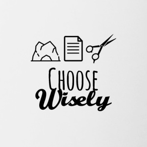 Wise choice - Contrast Coffee Mug
