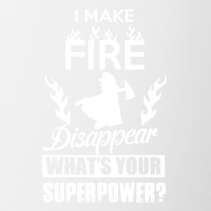 I make fire disappear, what's your superpower? - Contrast Coffee Mug