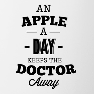 an_apple_a_day_keeps_the_doctor_away-01 - Contrast Coffee Mug