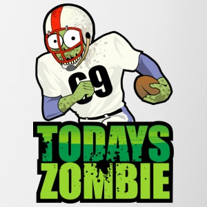 Football Zombie - Contrast Coffee Mug