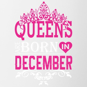 Queens Are Born In December - Contrast Coffee Mug