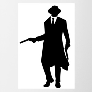 BLACK AND WHITE GANGSTER WITH GUN AND TUXEDO - Contrast Coffee Mug