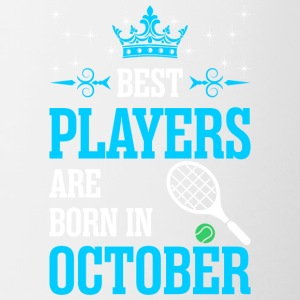Best Players Are Born In October - Contrast Coffee Mug