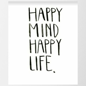 Happy Mind Happy Life - Contrast Coffee Mug