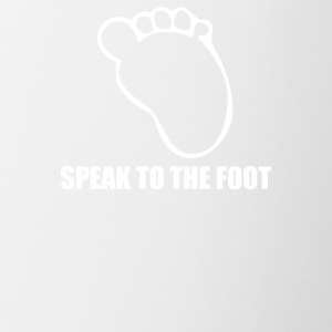 Speak To The Cute Baby Foot - Contrast Coffee Mug