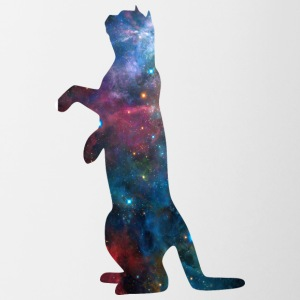 black_cat_on_back_legs_galaxy - Contrast Coffee Mug