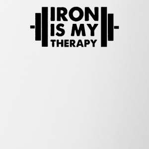 Iron is My Therapy - Contrast Coffee Mug