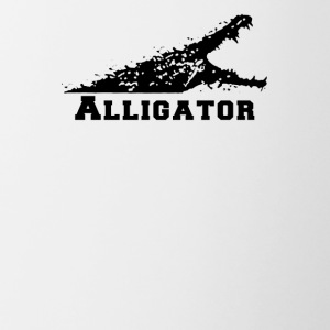 Alligator with Open Mouth - Contrast Coffee Mug