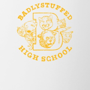 Badlystuffed high school - Contrast Coffee Mug