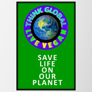 LIVE VEGAN. THINK GLOBAL. - Contrast Coffee Mug