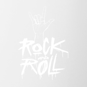 Rock and Roll Hand (White) - Contrast Coffee Mug