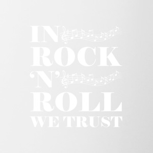 In Rock n Roll We (White) - Contrast Coffee Mug