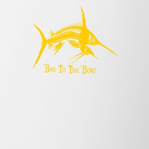 Bad To The Bone Fish - Contrast Coffee Mug