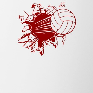 Volleyball Explosion - Contrast Coffee Mug