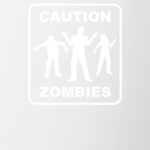 Caution Zombies - Contrast Coffee Mug