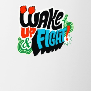 Wake Up and Fight - Contrast Coffee Mug