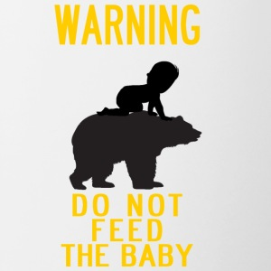 warning do not feed the bear and baby YELLOW - Contrast Coffee Mug