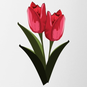 Red Tulips - Contrast Coffee Mug