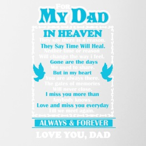 Dad In Heaven Shirt - Contrast Coffee Mug