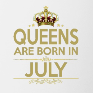 QUEENS ARE BORN IN JULY - Contrast Coffee Mug
