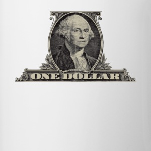 One Dollar Bill - George Washington - Contrast Coffee Mug