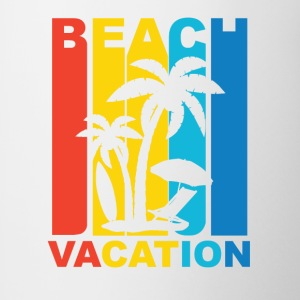 Vintage Beach Vacation Graphic - Contrast Coffee Mug
