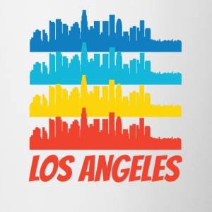 Retro Los Angeles CA Skyline Pop Art - Contrast Coffee Mug