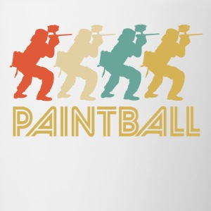 Retro Paintball Pop Art - Contrast Coffee Mug
