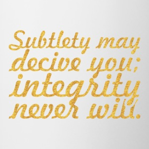 Subtlety may decive... Inspirational Quote - Contrast Coffee Mug