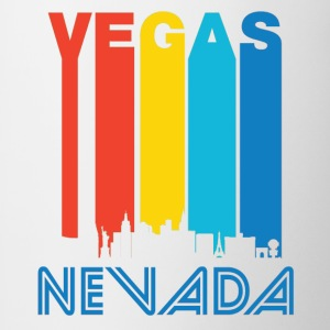Retro Vegas Skyline - Contrast Coffee Mug