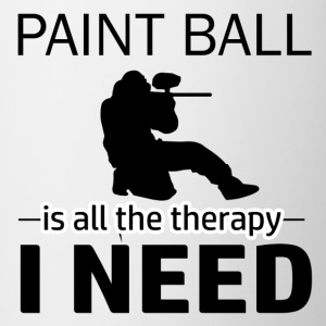 Paint Ball is my therapy - Contrast Coffee Mug