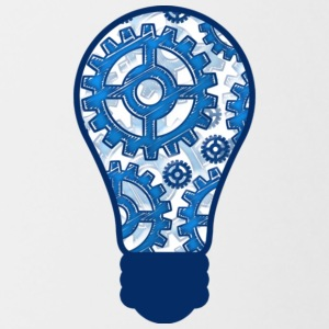Blue gears light bulb T Shirt - Contrast Coffee Mug